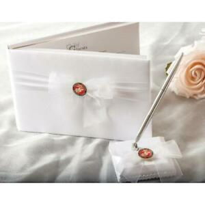Military Wedding Guetsbook and Pen Set - Air Force - Navy - Army - Marines