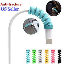 USB Charger Cable Spiral Wire Protector Cover Saver For Apple iPhone, iPad