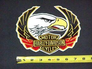 RARE Vintage HARLEY DAVIDSON MOTORCYCLES BAR SHIELD EAGLE HEAD jacket vest Patch