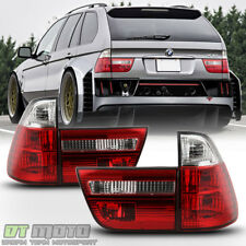 2000-2006 BMW E53 X5 Red Clear Tail Lights Brake Lamps Left+Right 00-06 4pcs Set