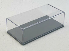 1:43 Spark Gray Base w/Clear Dust Cover Display Case (5.5x2.75x1.5) SPCASE
