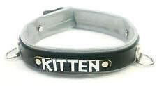 Sparkly vinyl & Leather collar SISSY Princess sub dog Kitten any word