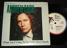 """ANDREW CASH   P/S 45 """" WHAT AM I GOING TO DO WITH THESE HANDS  """" 1980s POP"""