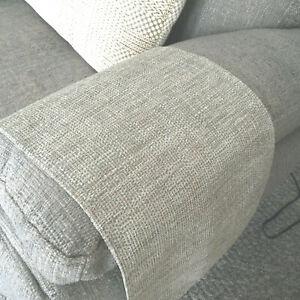 LUXURY Chair Arm Back Cover LAST PAIR Antimacassar Sofa Armchair LT BEIGE