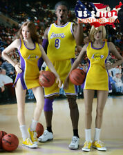 """1/6 NBA Lakers Cheerleader Suit Set Yellow For 12"""" PHICEN Hot Toys Figure ❶USA❶"""