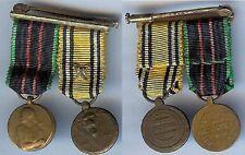 Médaille en réduction - Portée Belgique 2 réductions résistance  commémorative
