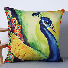 Peacock Feathers Sofa Bed Car Home Decoration Case Cushion Cover Pillow Case B1