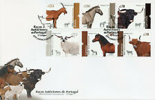 More details for portugal farm animals stamps 2020 fdc autochthonous breeds horses cows 6v set