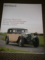 BONHAMS AUCTION CATALOGUE DECEMBER 2008 OLYMPIA LONDON BENTLEY SEDANCA DE VILLE