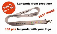 100 pcs Personalised lanyards with your logo, text, www Express and best time