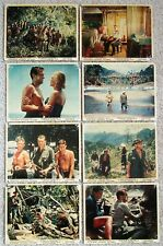BRIDGE ON RIVER KWAI ORIG 1958 SET OF 8 ENG FOH LC's 8X10 ALEC GUINESS GOOD