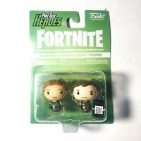 FORTNITE Funko PINT SIZE HEROES 2 Figures - Pathfinder & Highrise Assault Troop