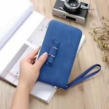 Girl Women Lady PU Leather Clutch Wallet Long Card Holder Purse Box Handbag Bag