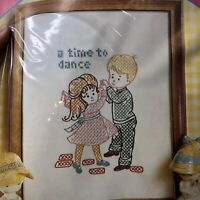 Pauline Denham Cross Stitch Kit A Time To Dance New Kids Learning  Beginner
