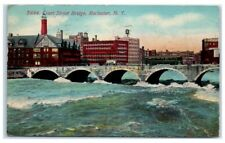 1915 Rochester, NY Court Street Bridge with City View Postcard