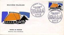 FDC / PREMIER JOUR POLYNESIE / TIMBRE N° 74 GRANDS EDIFICES / PAPEETE 1969