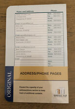Franklin Covey Address Phone Pages Refill 48 Pages 21963 6 Holes Compact