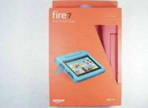Kid-Proof Case for Fire 7 Tablet (Compatible with 9th Generation Tablet), Pink