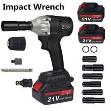 21v Cordless Impact Wrench 12 520nm High Torque Brushless Power Tool2 Battery