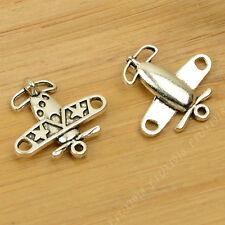 15pc Tibetan Silver Charms Plane Pendant Beads Jewellery Making 18mm*19mm P665B