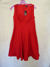 Torrid Red Retro Pinup Rockabilly Swing Dress Size 12 NWT
