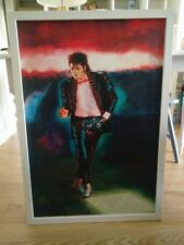 Michael Jackson oil painting. Billie Jean.