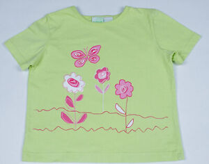 CIRCO GIRLS MEDIUM 7 8 GREEN PINK TOP BUTTERFLY & FLOWERS SHIRT FLORAL