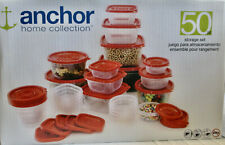 NEW ANCHOR Home Collection 50 PC PLASTIC STORAGE SET - BPA FREE