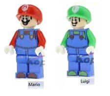 MARIO & LUIGI SET BROTHERS FIGURE MINI Building Blocks PLAY WITH LEGOS USA