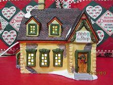 CHRISTMAS HOUSE HERB SHOP HEARTLAND VALLEY VILLAGE PORCELAIN LIGHTED