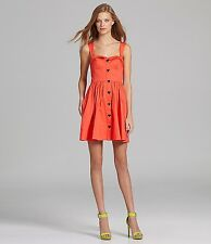NWoT Betsey Johnson Sweet Heart Button Fit & Flare Corset Dress in Melon 10 $185