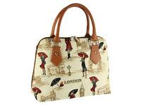 Signare Ladies Tapestry Fashion Handbag Shoulder Bag In Miss London Design