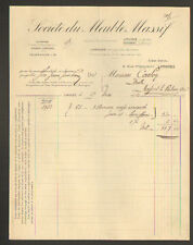 """LIMOGES (87) Société du MEUBLE MASSIF """"Anciennement LAROUDIE & RONDEAU"""" en 1912"""