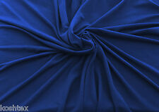 "True Blue Bamboo Spandex Fabric Jersey Knit by the Yard 59""W KH129"
