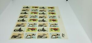 USA~WILDLIFE CONSERVATION~BIRDS~ANIMALS~FULL SHEET~POSTAGE STAMPS~8 CENT~MNH
