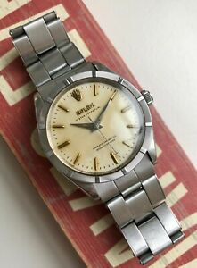 Vintage Rolex 50s Automatic Oyster Perpetual Patina Dial Watch For Repair