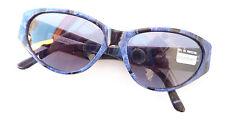 Lunettes de Soleil Créateurs Yves St.Laurent Grand Bleu Noir Cateye TAILLE M