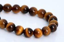 "4MM Natural Yellow Tiger Eye Gemstone Beads Grade AAA Round Loose Beads 7.5"""