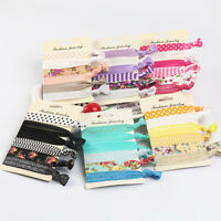 6Pcs/set Candy Elastic Ponytail Holder Girls Ribbon Hair Ties Knotted Hairband