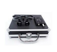 Dental Surgical Binocular Loupes 3.5 X420mm+LED Headlight+Aluminium Box (Black)