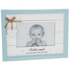 Vintage Shabby Chic Baby Boy blue Photo Frame Gift With Heart 56870