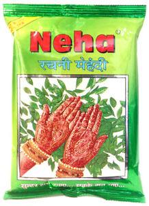 Neha Rachni Mehandi Herbal Powder | Natürliches Henna-Pulver für Tattoos (250g)