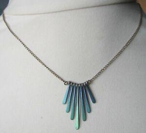 Vintage 70s Titanium ? Silver Necklace Pendant