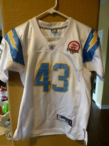 PRE-OWNED NFL SAN DIEGO CHARGERS DARREN SPROLES #43 REEBOK JERSEY YOUTH SIZE M