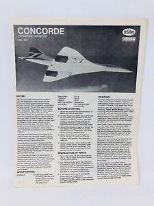 Testors Concorde Supersonic Transport Japan Model Kit MANUAL ONLY