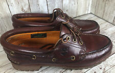 Timberland Womens Leather Classic 3 Eye Boat Noreen Shoes Loafers  Size 7.5