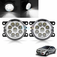 Auto 9LED Round Front Fog Lamp DRL Daytime Running Light For Ford Focus White SG