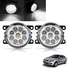Auto 9LED Round Front Fog Lamp DRL Daytime Running Light For Ford Focus White SG