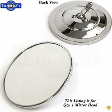 47-72 Pick Up Pickup Truck Exterior Door Chrome Round Ribbed Back Mirror NO BASE