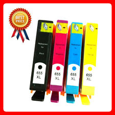 4 Ink CartridgeFor HP Deskjet Ink Advantage 3525 4615 4625 5525 6520 6525 655XL